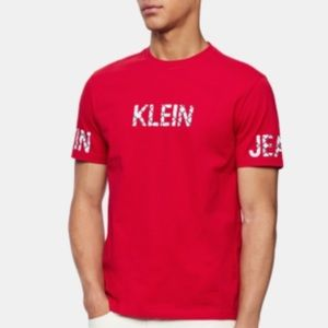 Calvin Klein Logo Barbados Cherry Tshirt for Men